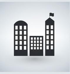 city buildings icon real estate symbol modern vector image