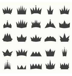 Crown icons set Heraldic design elements vector image