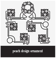 peach design ornament vector image