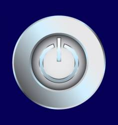 power switch chrome illustration vector image vector image