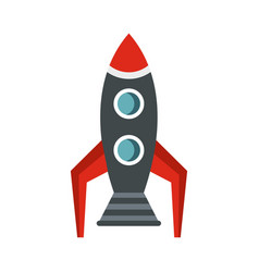 Rocket icon flat style vector