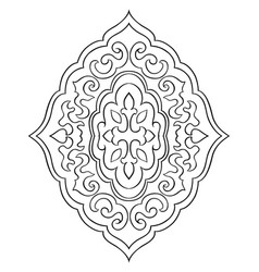 Abstract medallion for design vector