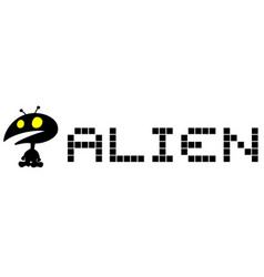 alien card vector image