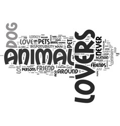 Animal languages text word cloud concept vector