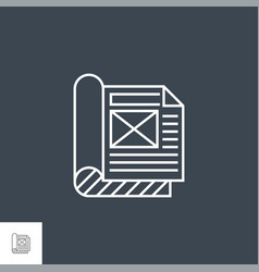 Article related thin line icon vector