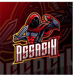 assassin esport mascot logo design vector image