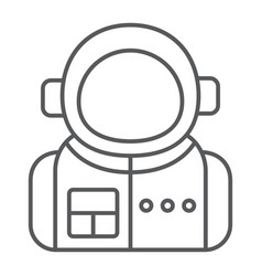astronaut thin line icon spaceman and astronomy vector image