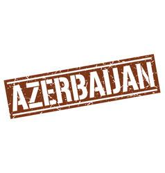 azerbaijan brown square stamp vector image