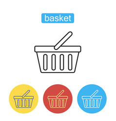 basket store line icon vector image