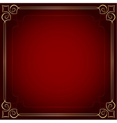 Beautiful frame on a red background vector