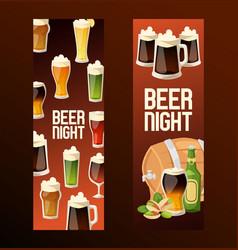beer in beerhouse brewery beermug vector image