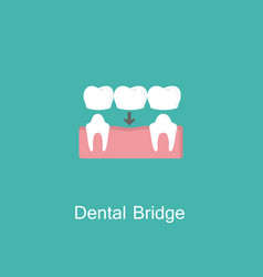 Bridges teeth flat icon vector
