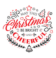 calligraphic lettering for merry christmas and vector image