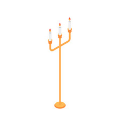 candle stand icon isometric style vector image