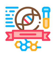 chemistry subjects graduation icon outline vector image