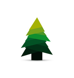 christmas tree in modern design new year dreeting vector image
