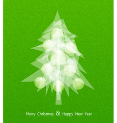 Christmas tree with balls vector image