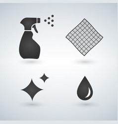 cleaning icons in set collection for design vector image