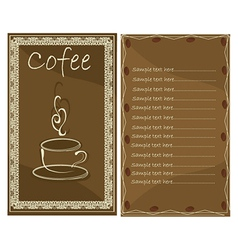 Coffee menu for cafe vector