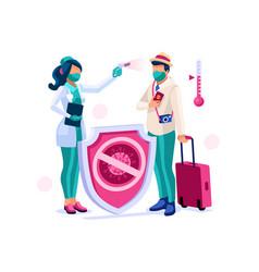 Coronavirus travel risk symbol vector