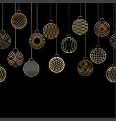 Decorative seamless border made of golden vector