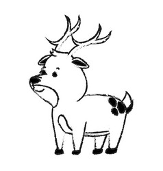 Deer cute animal cartoon icon image vector
