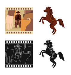 Design texas and history logo vector
