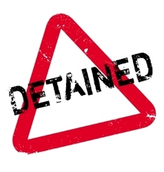 Detained rubber stamp vector