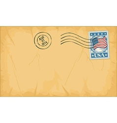 Envelope with stamp vector image