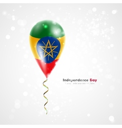 Flag of Ethiopia on balloon vector