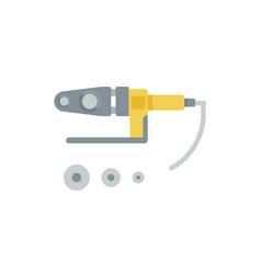 flat a soldering equipment vector image