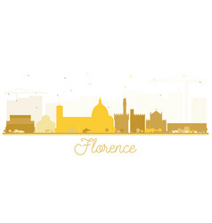 Florence italy city skyline silhouette with vector