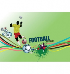 footbal poster vector image