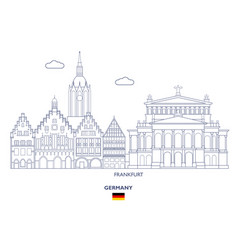 Frankfurt city skyline vector