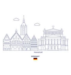 frankfurt city skyline vector image