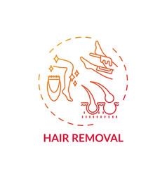 Hair removal concept icon vector
