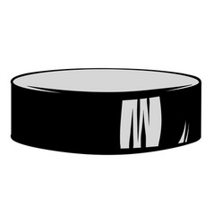 hockey puck icon cartoon vector image