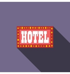 Hotel sign icon flat style vector