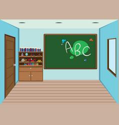 Interior classroom vector