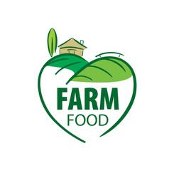 Logo farm food vector