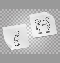 loneliness business collaboration concept vector image