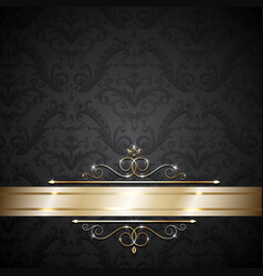 luxury gold template vector image