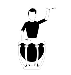 male avatar playing the drums vector image