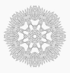 Mandala antistress coloring pages vector