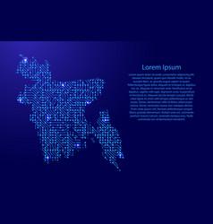Map bangladesh from printed board chip and radio vector