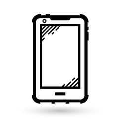 mobile phone linear icon vector image