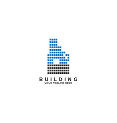 Modern building logo template logo for business vector