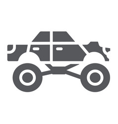 monster truck glyph icon transport and extreme vector image