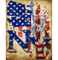 new york city typographic design vector image