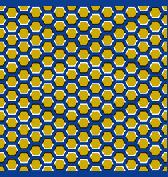 optical motion seamless pattern hexagons vector image